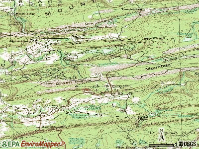 Oneida topographic map