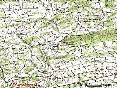 Orangeville topographic map