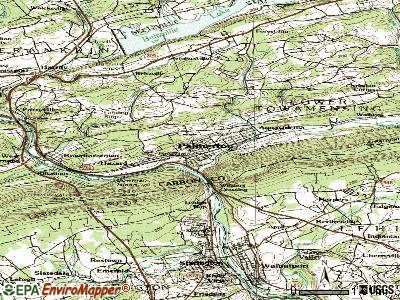 Palmerton topographic map