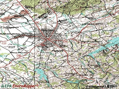 Parkville topographic map