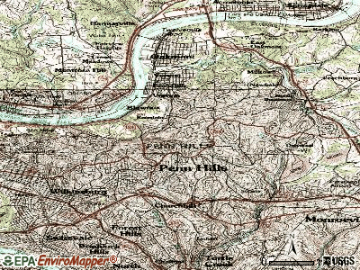 Penn Hills topographic map