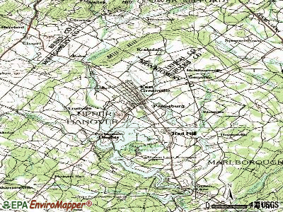 Pennsburg topographic map