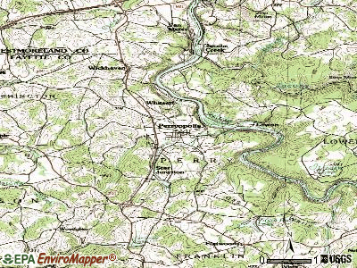 Perryopolis topographic map