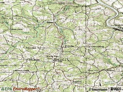 Petrolia topographic map