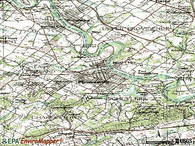 Phoenixville topographic map
