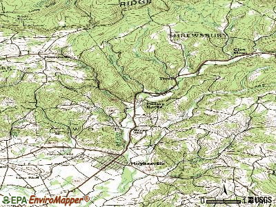 Picture Rocks topographic map