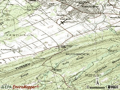 Pine Grove Mills topographic map