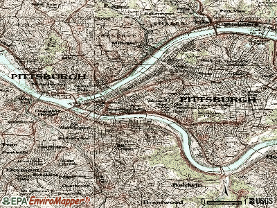 Pittsburgh topographic map