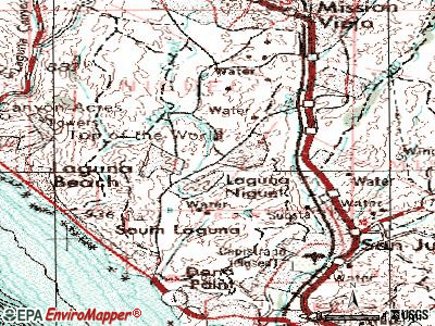 Laguna Niguel topographic map