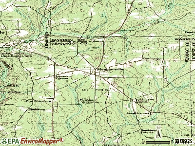 Pleasantville topographic map