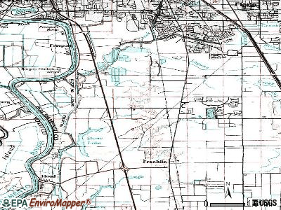 Laguna West-Lakeside topographic map