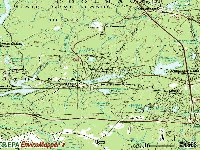 Pocono Pines topographic map