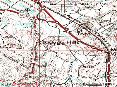 Laguna Woods topographic map