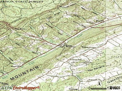 Port Matilda topographic map