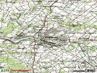 Pottstown topographic map