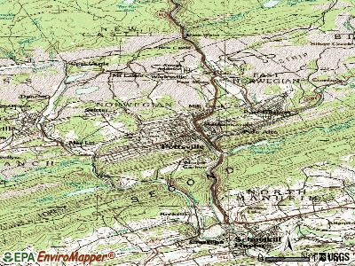 Pottsville topographic map