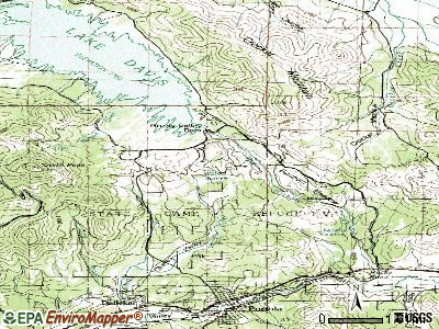 Lagunitas-Forest Knolls topographic map