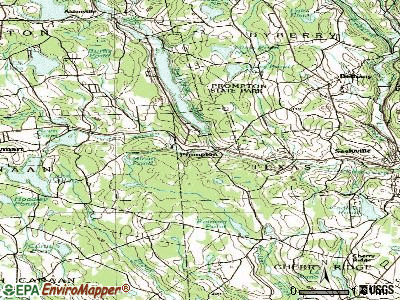 Prompton topographic map