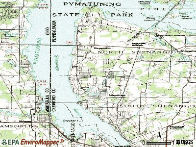 Pymatuning Central topographic map