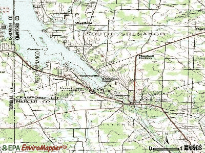 Pymatuning South topographic map