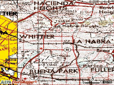 La Habra topographic map