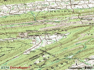 Reinerton-Orwin-Muir topographic map