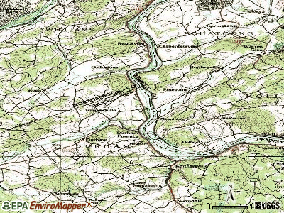 Riegelsville topographic map