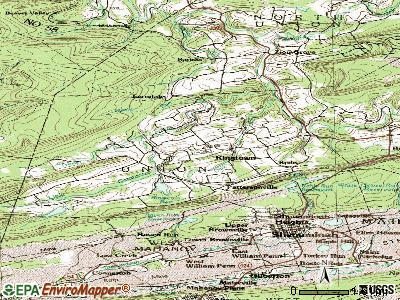 Ringtown topographic map