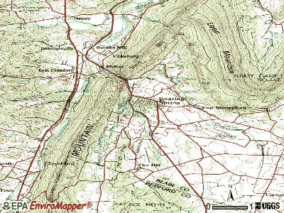 Roaring Spring topographic map