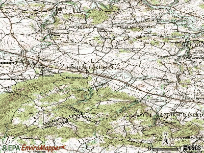 Robesonia topographic map