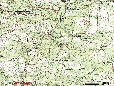 Rossiter topographic map