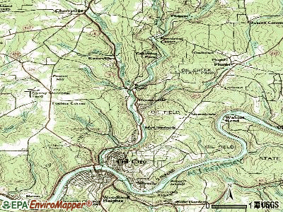 Rouseville topographic map