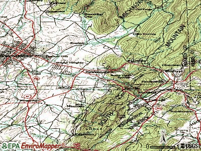 Rouzerville topographic map