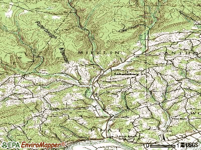 Salladasburg topographic map