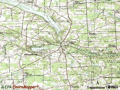 Sandy Lake topographic map