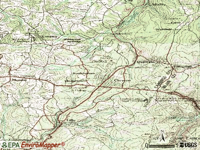 Sankertown topographic map