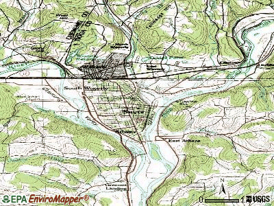 Sayre topographic map
