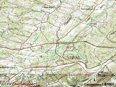 Schellsburg topographic map