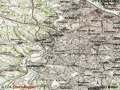 Scott Township topographic map