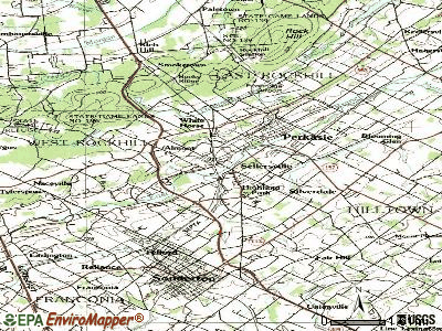 Sellersville topographic map