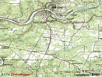 Seneca topographic map