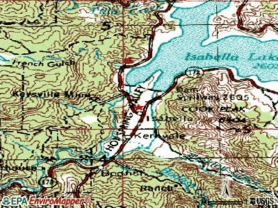 Lake Isabella topographic map