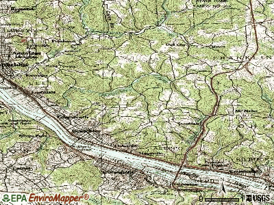 Sewickley Heights topographic map