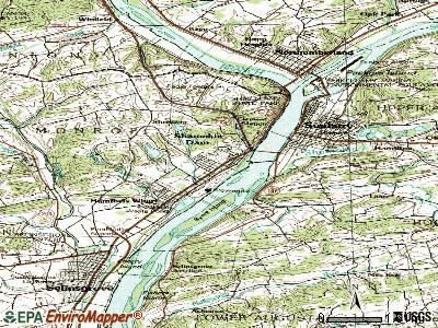 Shamokin Dam topographic map