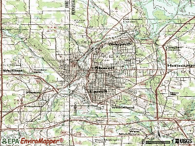 Sharon topographic map
