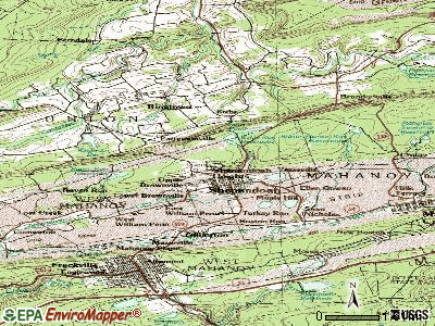 Shenandoah Heights topographic map
