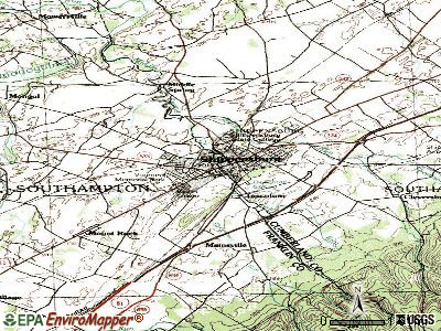 Shippensburg topographic map