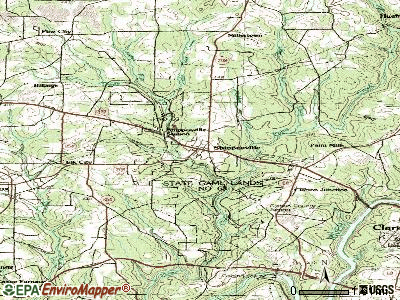 Shippenville topographic map