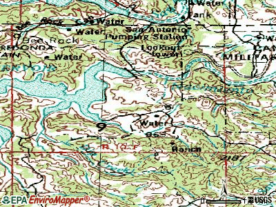 Lake Nacimiento topographic map