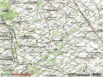 Skippack topographic map